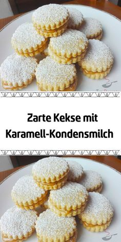 Delicate cookies with caramel-condensed milk-Delicate cookies with caramel .- Zarte Kekse mit Karamell-Kondensmilch-Zarte Kekse mit Karamell-Kondensmi … – Tender biscuits with caramel condensed milk Tender biscuits with caramel condensed milk … – – - Easy Vanilla Cake Recipe, Easy Cake Recipes, Cookie Recipes, Dessert Recipes, Sweet Desserts, Holiday Desserts, Condensed Milk Biscuits, Caramel Cookies, New Cake