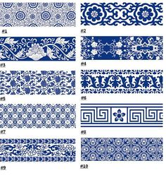 Items similar to Blue and White Wide - Translucent Masking Tape - wide - yard on Etsy Masking Tape Art, Duct Tape, Birthday Gifts For Teens, Teen Birthday, Duck Tape Crafts, Chinese Patterns, Happy New Year Greetings, Tibetan Art, Wallet Tutorial