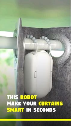 Automatic Curtain Opener Robot Related Best Home Automation Ideas For Your Smart Home In alarm clock forces you to get out of bed to shut it New Gadgets For. Clever Gadgets, Cool Gadgets To Buy, Gadgets And Gizmos, Technology Gadgets, Robot Technology, Spy Gadgets, Electronics Gadgets, Office Gadgets, Medical Technology