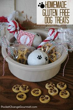 Homemade Gluten-Free Dog Treats :: Recipe on PocketChangeGourmet.com