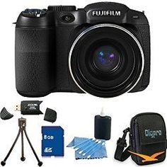 FinePix S2950 14 MP 18x Wide Angle Zoom 3.0 LCD Digital Camera, 720p HD Movie, Dual Image Stabilization, Full Manual Controls. Bundle Includes 8GB Memory Card, Card Reader, Deluxe Carrying Case, Mini Tripod, and Lens Cleaning Kit. - http://electmecameras.com/camera-photo-video/digital-cameras/point-shoot-digital-camera-bundles/finepix-s2950-14-mp-18x-wide-angle-zoom-30-lcd-digital-camera-720p-hd-movie-dual-image-stabilization-full-manual-controls-bundle-includes-8gb-memory-ca