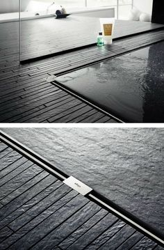 Dusche mit Mosaik ähnlich Leo black Sticks.