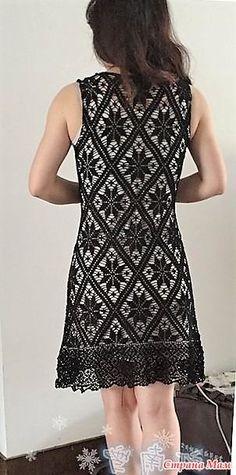 Это прекрасное платье от китайской мастерицы поражает своей изящностью и красотой. Оно связанно в филейной технике. На бежевом чехле оно смотрится превосходно! Размер. БЮСТ 84 см. Талия 73 см.