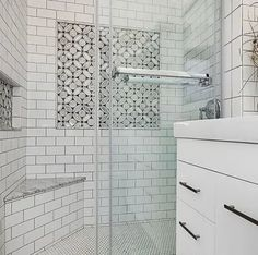 Like if you spot our Highland Blossom Tile! Design: My Home US ⠀⠀⠀ ⠀⠀ ⠀⠀⠀⠀⠀ ⠀⠀⠀ ⠀⠀ ⠀⠀⠀ ⠀⠀ ⠀⠀⠀ ⠀⠀ ⠀⠀⠀⠀⠀ ⠀⠀⠀ ⠀⠀ ⠀⠀⠀ ⠀ ⠀⠀ ⠀⠀⠀⠀⠀ ⠀⠀⠀ Shower Accent Tile, White Subway Tile Shower, Tile Accent Wall, Subway Tile Showers, Bathroom Accent Wall, Bathroom Flooring, Tiled Showers, Upstairs Bathrooms, Downstairs Bathroom