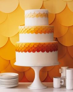 A burst of color wedding cake