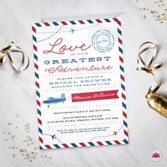 Travel Bridal Shower Invite: Miss to Mrs Printable   Travel bridal ...