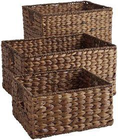 Carson Espresso Wicker Shelf Storage Baskets #affiliatelink  # baskets # storage # organize