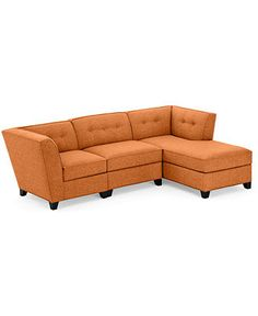 Harper Fabric 3 Piece Modular Chaise Sectional Sofa: Custom Colors - Couches & Sofas - Furniture - Macy's $1356