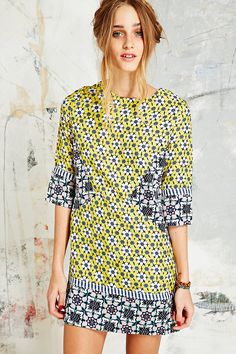 Native Rose Geo Rose Patchwork Dress - Urban Outfitters