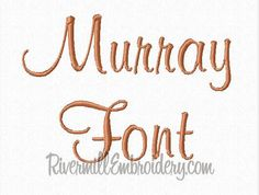 Murray Machine Embroidery Font Monogram by RivermillEmbroidery, $2.95
