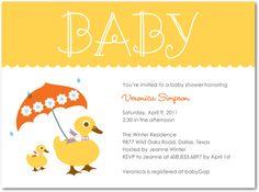 duck umbrella invite