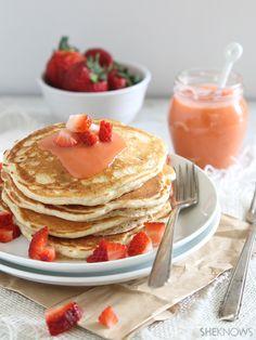 Strawberry lemon pancakes