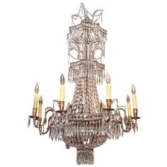Antique chandeliers at newell antiques in nyc lights pinterest italian gilt metal and crystal pagoda inspired chandelier mozeypictures Images