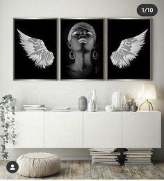 Gold Angel Wings, Black, Black People