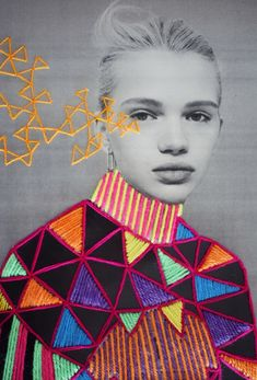 Victoria Villasana - Whimsical Embroidery Portraits | Patternbank