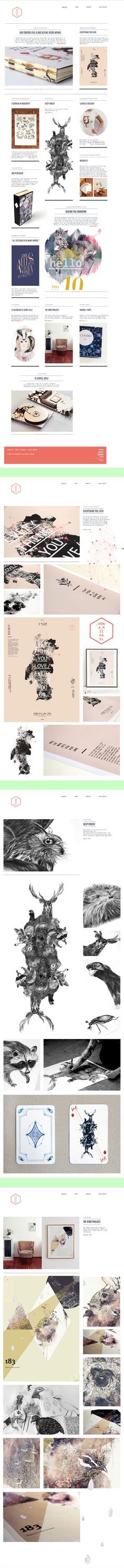 Personal webdesign | Lara Bispinck by Lara Bispinck, via Behance