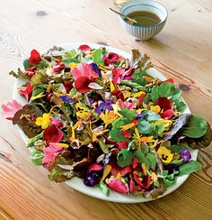 Spring flower salad....when I can shop at woolies again!