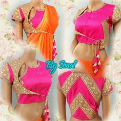 """Sonal Daga on Instagram: """"Product code: DB067 Available in various sizes Can be designed in any colour #rani #pink #gold #blouse To order n for prices n other details call or whatsapp 9669166763 Payment: Bank transfer"""""""