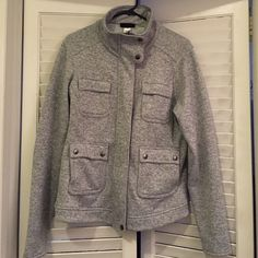 Grey Patagonia Zip Up Super comfy and soft Patagonia zip up jacket. Size large. In great condition!!! Patagonia Jackets & Coats