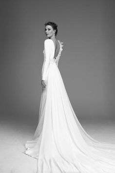 Victoria 2020 Spring Bridal Collection – The FashionBrides Jamaica, Gowns With Sleeves, Bridal Collection, One Shoulder Wedding Dress, Wedding Gowns, Victoria, Spring, Fashion, Sleek Wedding Dress