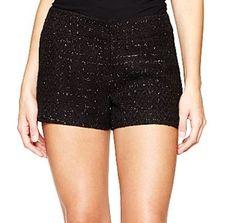 Tweed Black Tailored Shorts