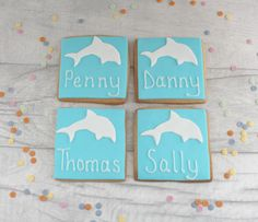 A personal favourite from my Etsy shop https://www.etsy.com/uk/listing/549466975/dolphin-place-name-cookies-personalised