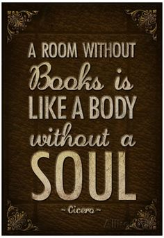 A Room Without Books is Like a Body Without a Soul Poster Prints at AllPosters.com