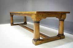 Four Column Refectory Dining Table