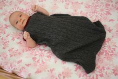 DIY recycled sweater sleep sack by Emily Lindberg. This would be great for fall and winter and as a wool soaker like protection with cloth diapers