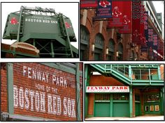 Boston Red Sox Photographs - Fenway Park Baseball World Series Championship Banners - Four 5x7 prints matted to 8x10 ready to frame. $50.00, via Etsy.