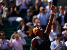 PARIS: World #1 Serena Williams points to the sky after defeating Sveta Kuznetsova in their Roland Garros QF match. Serena's arduous journey is proof she is Blessed by #GOD #TeamSerena 6/4/13