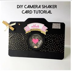 DIY Camera Shaker Card Tutorial from StampinFool.com                                                                                                                                                                                 More