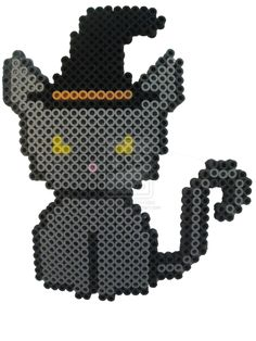 Witchy Cat - Halloween perler beads by PerlerHime on deviantART