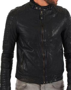 Men Motocycle Leather Biker Jacket 3D 5MJ- EB - http://www.gezn.com/men-motocycle-leather-biker-jacket-3d-5mj-eb.html