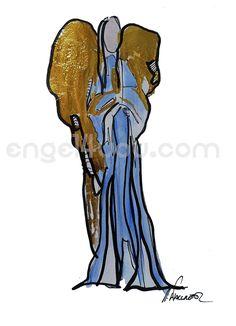 Bild in Acrylfarben, ca 21 x 29 cm, Unikat, handsigniert, teilweise Blattgold veredelt, mehr Info´s unter engel4you.com #engel4you #kunst #art #austria #österreich Darth Vader, Deco, Fictional Characters, World Records, Blue Angels, Cubism, Gold Leaf, Guardian Angels, Kunst