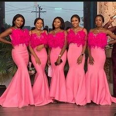 HOW TO WEAR AFRICAN BRIDESMAID DRESSES IN 2021? Printed Bridesmaid Dresses, African Bridesmaid Dresses, African Wedding Dress, Perfect Wedding Dress, Bridal Wedding Dresses, Wedding Attire, African Fashion Dresses, African Dress, Shweshwe Dresses