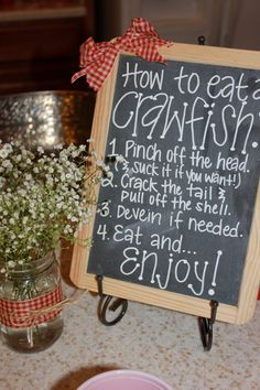 Chalkboard How to Eat a Crawfish by TheLoveOfTheSouth on Etsy