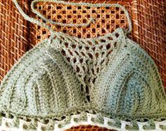 Modelo Dunne du Pilat crochet cosecha verano bikini por Pomcloset