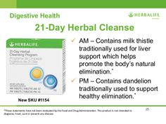 Herbalife 21 day cleanse!