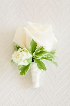 Traditional white rose boutonniere: http://www.stylemepretty.com/little-black-book-blog/2015/05/21/romantic-laduree-inspired-tuscany-beach-wedding/ | Photography: Facibeni Fotografia - http://www.photographertuscany.com/