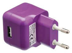 USB-lader USB A female - AC-huisaansluiting paars Usb Flash Drive, Iphone 6, Apple, Female, Apple Fruit, Usb Drive, Apples