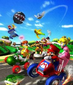 A description of tropes appearing in Mario Kart: Double Dash! The fourth installment of the Mario Kart series, released in 2003 on the Nintendo GameCube. Super Mario Brothers, Super Mario Bros, Super Smash Bros, Mario Kart Characters, Mario Kart 8, Super Mario World, Tv Tropes, Game Character, Bffs