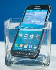 The rugged Samsung Galaxy S5 Active smartphone is waterproof and shock-proof.