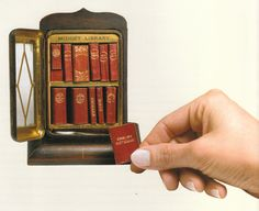 Miniature books - midget library.  Twelve-volume miniature library produced by David Bryce & Son, Glasgow: 1900.