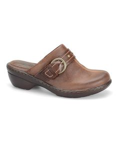 Look what I found on #zulily! Drum Brown Edies Leather Mule #zulilyfinds