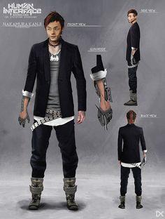 ArtStation - Human Interface - Character concept art ( Nakamura Kanji ), Darius Kalinauskas