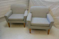 MYYNNISSÄ 50-luvun nojatuolit, uudelleen verhoiltu