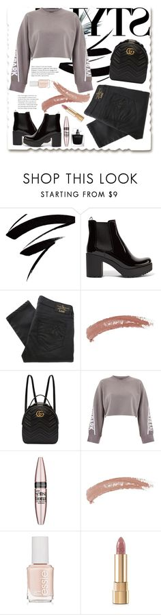 """uni style"" by mutiahrana ❤ liked on Polyvore featuring Prada, Vivienne Westwood Anglomania, Topshop, Gucci, Ivy Park, Maybelline, Essie, Narciso Rodriguez and Dolce&Gabbana"