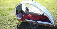 Foldavan is a tiny caravan that can be towed behind a bicycle. We love the idea and are proud to see it join our own ETA QTvan in the tiny eco camping category! Bike Trailer, Camper Trailers, Bike Motor, Small Motorhomes, Lightweight Trailers, Mercedes Van, Light Trailer, Small Suv, Motorhome