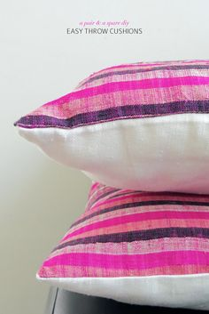 Create these simple envelope cushions - no annoying zip to sew!